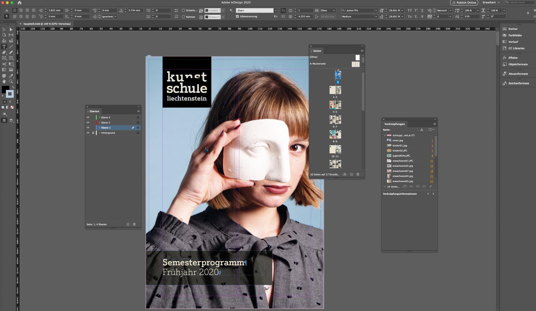 Kunstschule Liechtenstein Layouts Mit Adobe Indesign